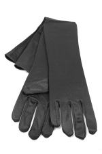 "Satin Gloves 16"" Black"