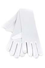 "Satin Gloves 16"" White"