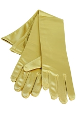 "Satin Gloves 16"" Dark Gold"