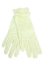 "Lace Wrist Gloves 2"" Ivory"