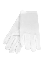 Satin Gloves 3-6 Child's White