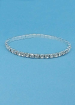 Single Row Fine Rhinestone Stretch Bracelet