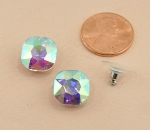 AB Silver 10mm Crystal Post Stud Earring