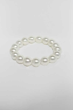 Pearl/ 1 Line 12MM Glass Pearl Stretch Bracelet