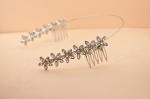 Clear/ Silver Six Flower Design Hair Comb