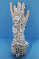 White/ Lace Wedding Glove