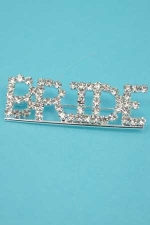 Clear Silver Rhinestone Small Bride Pin