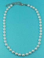 Pearl/Silver Multiple Pearl 8MM Necklace