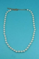 Pearl/Gold Multiple Pearl 8MM Necklace