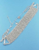 Clear Silver 13 Row Round Stone Set