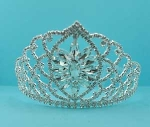 Clear/Silver Center Marquise Stone Round Stone Tiara