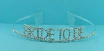 Clear Silver Round Stone Bride To Be Tiara
