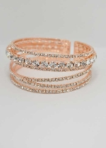 Light Peach/Rose Gold Medium/Small 6 Rows Bracelet