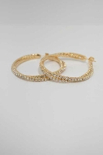 Clear/Rose Gold 40MM Hoop Earring