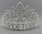 Clear Silver Bride To Be Crown