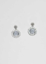 Cubic Zirconia/Silver Cubic Stone Post Earring
