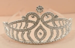 Clear/Silver Double Row Rhinestone Two Level With Eye Crown