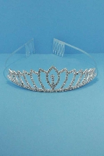 Clear/Silver Small Center Marquise With Stone Crown