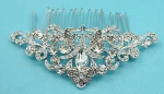 Clear/Silver Marquise Gem Cluster Side Hair Comb