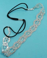 Clear/Silver Multiple Round Stone HeadBand