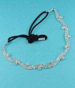 Clear Silver 2 Row Small/Medium Round Stone Head Band