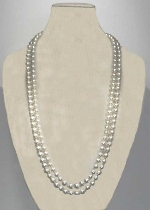 "Pearl/ 60"" 8MM Pearl Necklace"