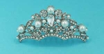 Pearl/Clear Silver Mini Crown Multiple Round Tiara