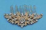 Clear/Gold Flower Shape Branch Comb