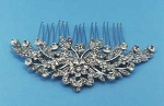 Clear/Silver Flower Shape Branch Comb