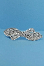 Clear/Silver Bow Tie Shape Barrete