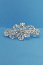 Clear/Silver Flower Shape Barrete