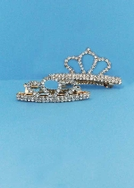 Clear/Gold Crown Shape Barretes