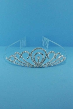 Clear/Silver Small Comb Tiara