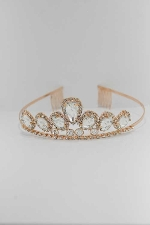 Clear/Rose Gold Medium Oval/Small Round Stone Tiara