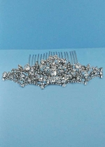 Clear/Silver Branch Flower Hair Comb