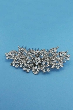 Clear/Silver Flower Shape Casting Hair Comb
