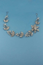 Clear/Silver Branch Flower Shape Headband