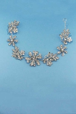Clear/Silver Flower Branch Shape Headband