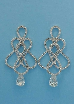 Clear/Silver Multiple 8 Shape Small Round Stone Earring