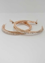 Clear/Gold Small Hoop Earring