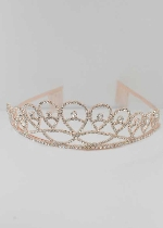 Clear/Rose Gold Pearshape Small Round Stone Tiara