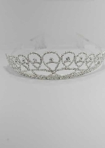 Clear/Silver Pearshape Small Round Stone Tiara