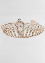 Clear/Rose Gold Small Round Stone Tiara
