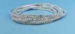Clear/Silver 8 Row Small Round Stone Bracelet