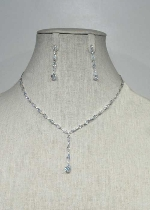 Cubic Zirconia/Silver Thin Set Marquise Stone Set