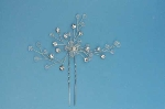 Clear/Silver Flower Brand Shape Bobby Pin