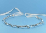 Clear/Silver Leaves Shape Ivory Headband
