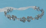 Clear/Silver Flower Shape Round Stone Headband