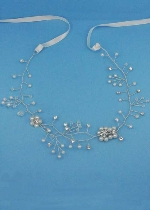 Pearl/Clear Gold Thin Branch Flower Headband