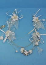 Pearl/Gold Multiple Flower/Branch Shape Tiara